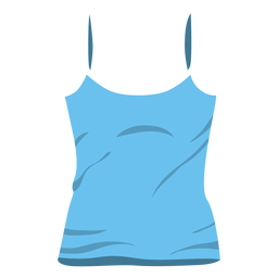 Blue women tank top icon