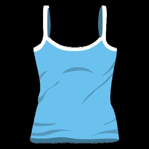 Blue women tank top icon Transparent PNG