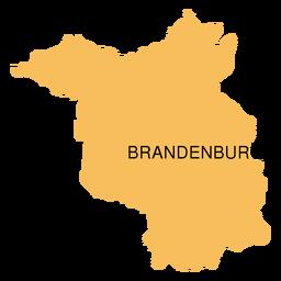 Mapa del estado de Brandenburgo