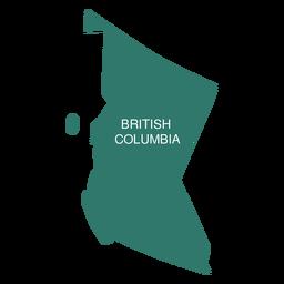 Mapa da província de colúmbia britânica