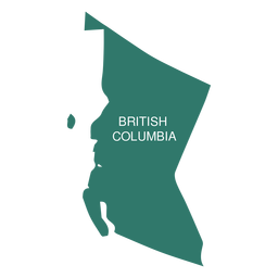 Mapa de la provincia de Columbia Británica