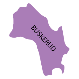 Buskerud county map