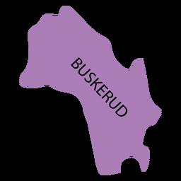 Mapa de Buskerud county