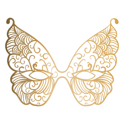 Butterfly carnival mask icon