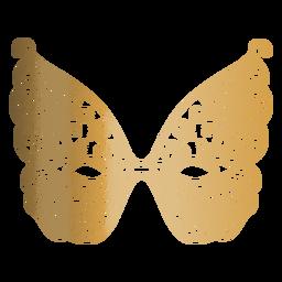 Icono de máscara de carnaval de mariposa
