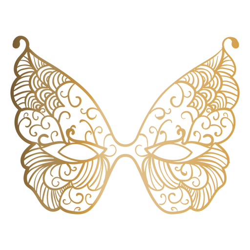 Butterfly carnival mask icon Transparent PNG