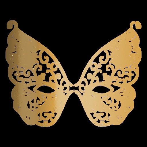 Icono de máscara de carnaval de mariposa Transparent PNG