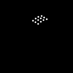 Cabasa musical instrument silhouette