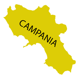 Campania region map