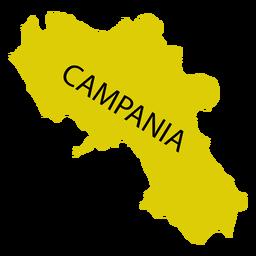 Mapa de la región de Campania