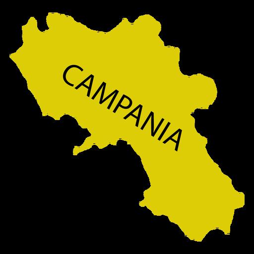 Mapa de la región de Campania Transparent PNG