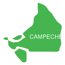 Mapa do estado de Campeche