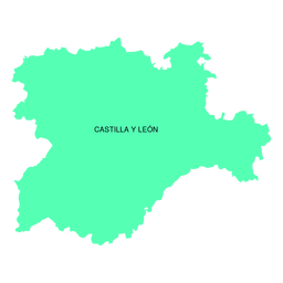 Castile and leon autonomous community map