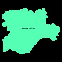 Mapa de la comunidad autónoma de Castilla y León.