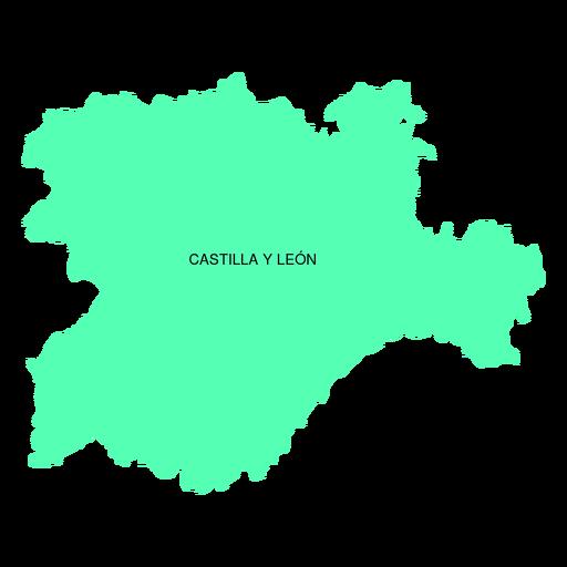 Mapa de la comunidad autónoma de Castilla y León. Transparent PNG