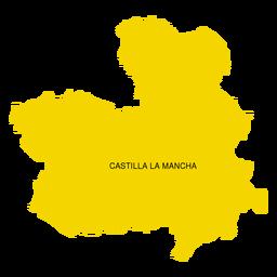 Mapa da comunidade autônoma de Castilla la mancha