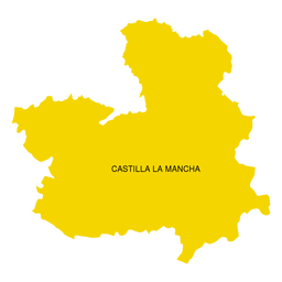 Mapa de la Comunidad Autónoma de Castilla la Mancha.