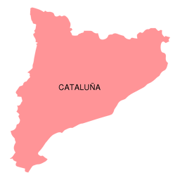 Catalonia autonomous community map