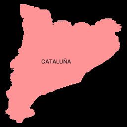 Mapa de la comunidad autónoma de cataluña