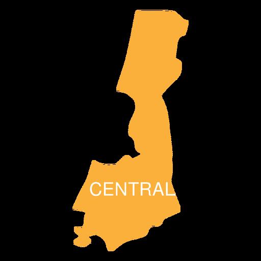 Mapa del distrito de israel central Transparent PNG