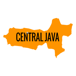 Mapa da província de java central