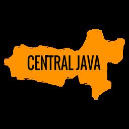 Mapa de la provincia de Java Central