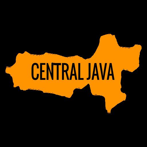 Central java province map Transparent PNG