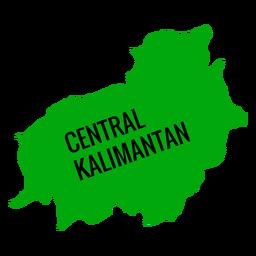 Mapa da província central de kalimantan