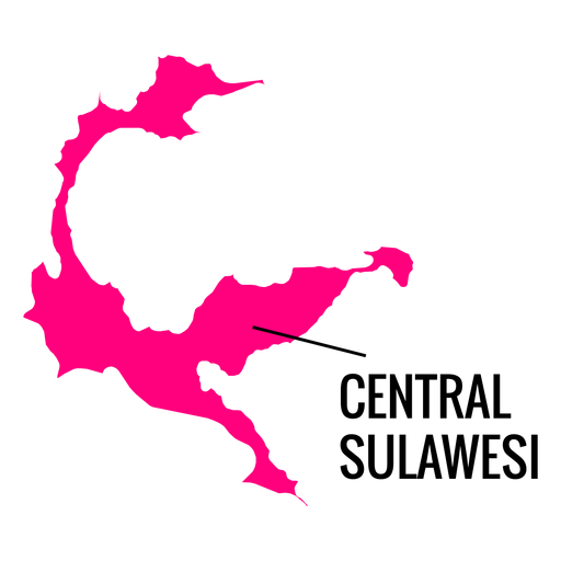 Central sulawesi province map Transparent PNG