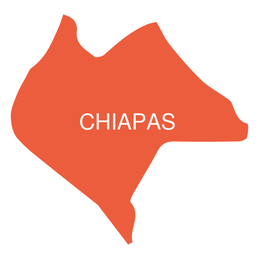 Chiapas state map Transparent PNG