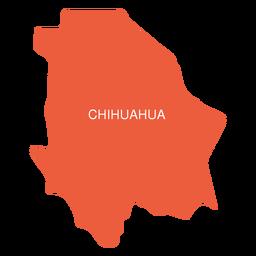 Mapa del estado de chihuahua