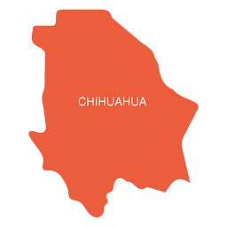 Mapa do estado de Chihuahua