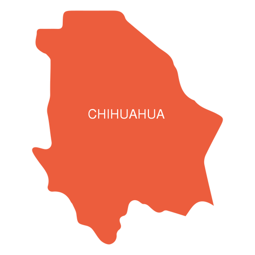 Mapa do estado de Chihuahua