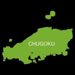 Chugoku-Gebietskarte
