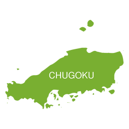 Mapa de la región de Chugoku