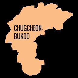 Chungcheongbuk do mapa de la provincia