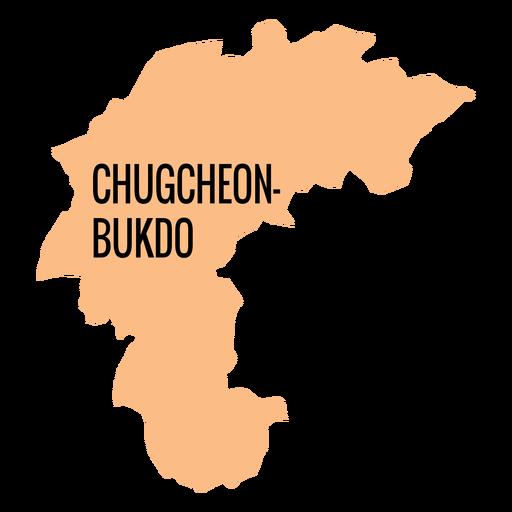 Chungcheongbuk do mapa de la provincia Transparent PNG