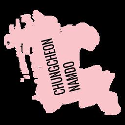 Mapa de la provincia de Chungcheongnam do
