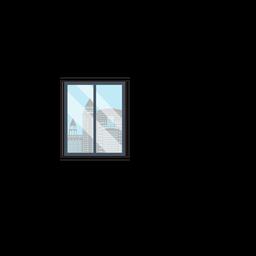 Clipart de ventana de oficina de la ciudad