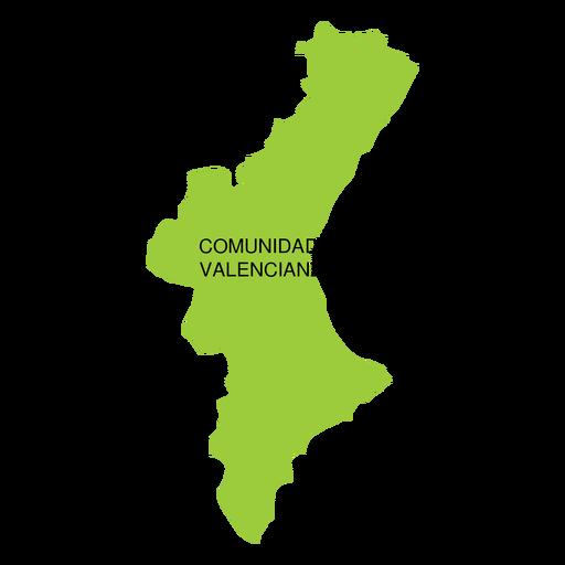 Mapa da comunidade autônoma da Comunidade Valencia Transparent PNG