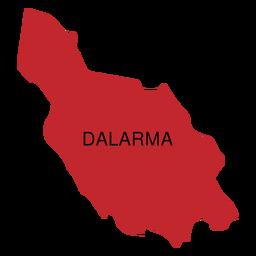 Mapa de condado de Dalarna