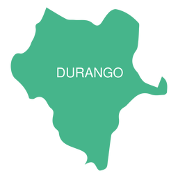 Durango state map