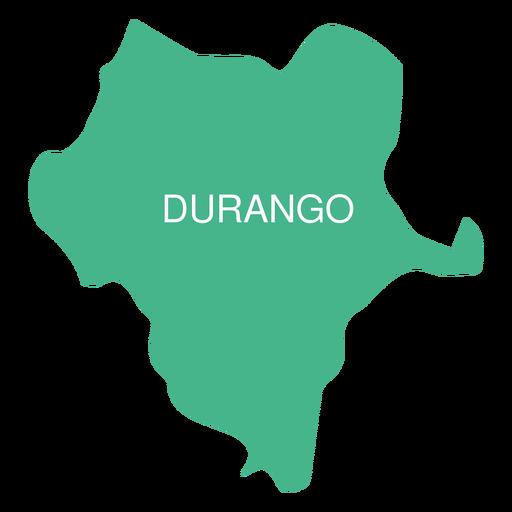 Mapa do estado de Durango