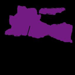 Mapa da província de Java Oriental