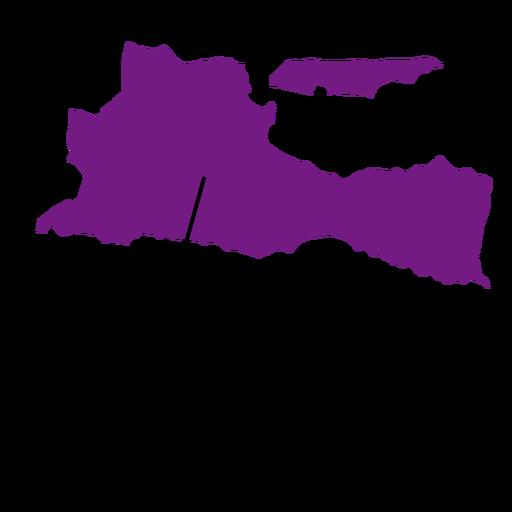 Mapa de la provincia de East Java Transparent PNG