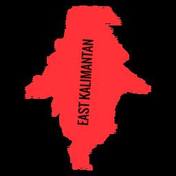 Mapa da província de kalimantan do leste