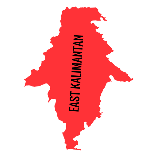 East kalimantan province map Transparent PNG