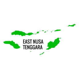 Mapa da província de East nusa tenggara