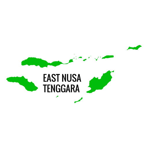East nusa tenggara province map Transparent PNG