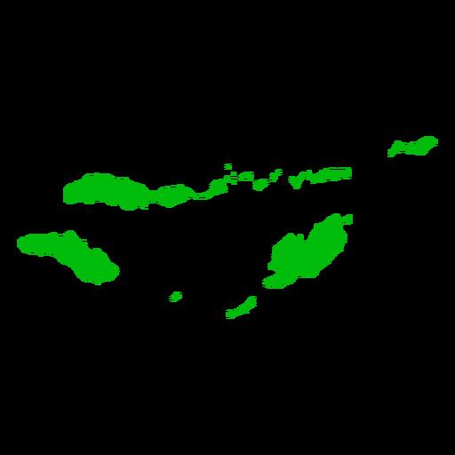 Mapa de la provincia de Nusa Tenggara Oriental Transparent PNG